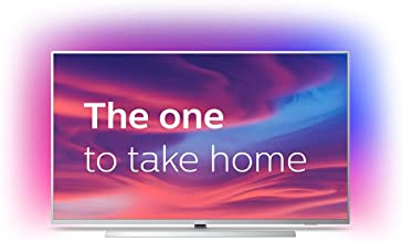 Philips 55PUS7304/12 55-Inch 4K UHD Android Smart TV with Ambilight and HDR 10+, Works with Alexa - Bright Silver (2019/2020 Model)