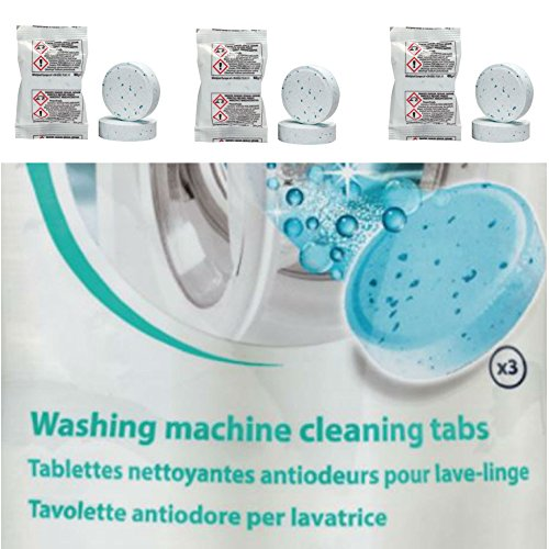 Eurosell 3 Stück Profi Reiniger für Waschmaschine zb für Bosch Siemens Miele AEG - Reinigungstabletten