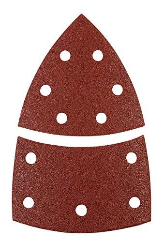 kwb Schleif-Dreieck für Delta- u. Multi-Schleifer - für Metall, Holz, Lack u. v. m., für Bosch-PSM , 100 x 62, 93 mm Korn K-60, K-120, K180, je 4 Stk., Sparpack (12 Stk.)