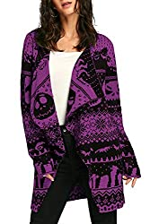 Nightmare Before Christmas Long Sleeve Cardigan with Jack and Oogie Booge