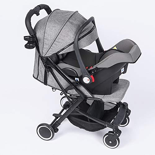 UNDERSPOR Cochecito de bebé, Asiento de Seguridad Infantil de Coche, portátil, Plegable y Universal para Todas Las Estaciones