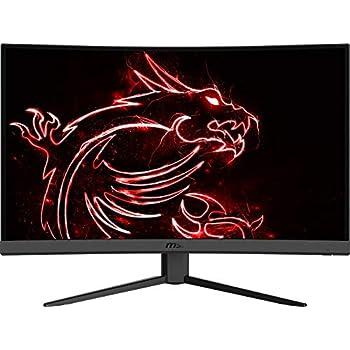 "MSI Optix G27C4 FHD 1500R Curvature 16:9 Aspect Ratio Non-Glare Super Narrow Bezel 1ms 1920 x 1080 165Hz Refresh Rate Tilt Adjustment AMD FreeSync 27"" Curved Gaming Monitor"