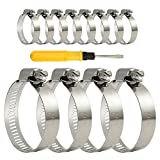 TUPARKA 12 Pcs 27-51mm schlauchschellen edelstahl,Professional Hose Clamps Set Stainless Steel für Pool, Sand Filter System, Car, Motorcycle,Pond and Garden