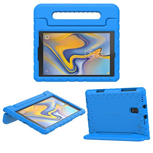 MoKo Funda para Samsung Galaxy Tab A 10.5', Portátil Prueba de Choques Ligera Kids Protector Parachoque Cover Case con Manija para Galaxy Tab A 10.5' (SM-T590 and SM-T595) 2018 - Azul