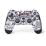 Skinit Decal Gaming Skin for PS4 Controller - Officially Licensed NBA LA Lakers Historic Blast Design