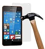 yayago Bildschirmschutzglas 0,26 MM Bildschirmschutzfolie für Microsoft Lumia 550 Glasfolie Hartglas 9H (bewusst Kleiner als das Bildschirm, da Dieses gewölbt ist)