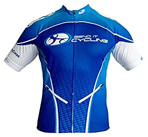 Bend It Cycling Deep Sea Blue Recumbent Jersey (3XL)