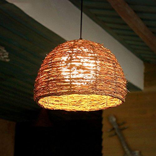 Lying Lustres, lumières de restaurant créatives Rattan Lustres Bar à café Bar Farm Lustres trouver