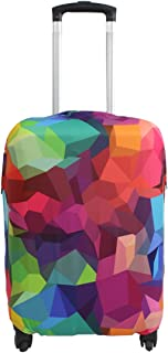 Travel Luggage Cover Suitcase Protector Fits 18-32 Inch Luggage (Geometry, L(27-30 inch Luggage))