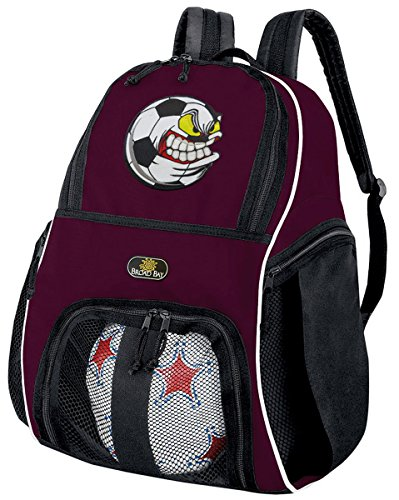 Crazy Soccer Backpack or Volleyball Bag Maroon