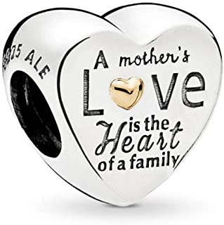 Heart of The Family Charm, Two Tone - Sterling Silver and 14K Yellow Gold, One Size