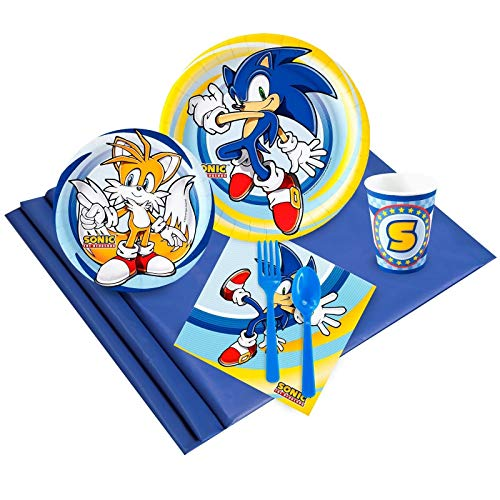 BirthdayExpress Sonic The Hedgehog Party Supplies - Party Pack for 24 Guests