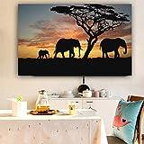 Elefantenplakat und Drucke Wohnzimmer Wandbild Leinwand Malerei Wandmalerei Home Wohnzimmer Dekoration modern 20x30cm