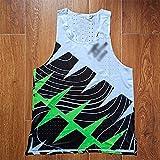 JFTMY Chaleco de Verano para Hombre Street Race Hombre Traje de Velocidad de Carrera rápida Traje de una Pieza Atleta Profesional Camiseta de Campo de Pista (Color : Green, Size : Mcode)