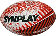 كرة الركبي المطاطية المخيطة باليد من SYNPLAY ، مقاس 5 (أحمر)
