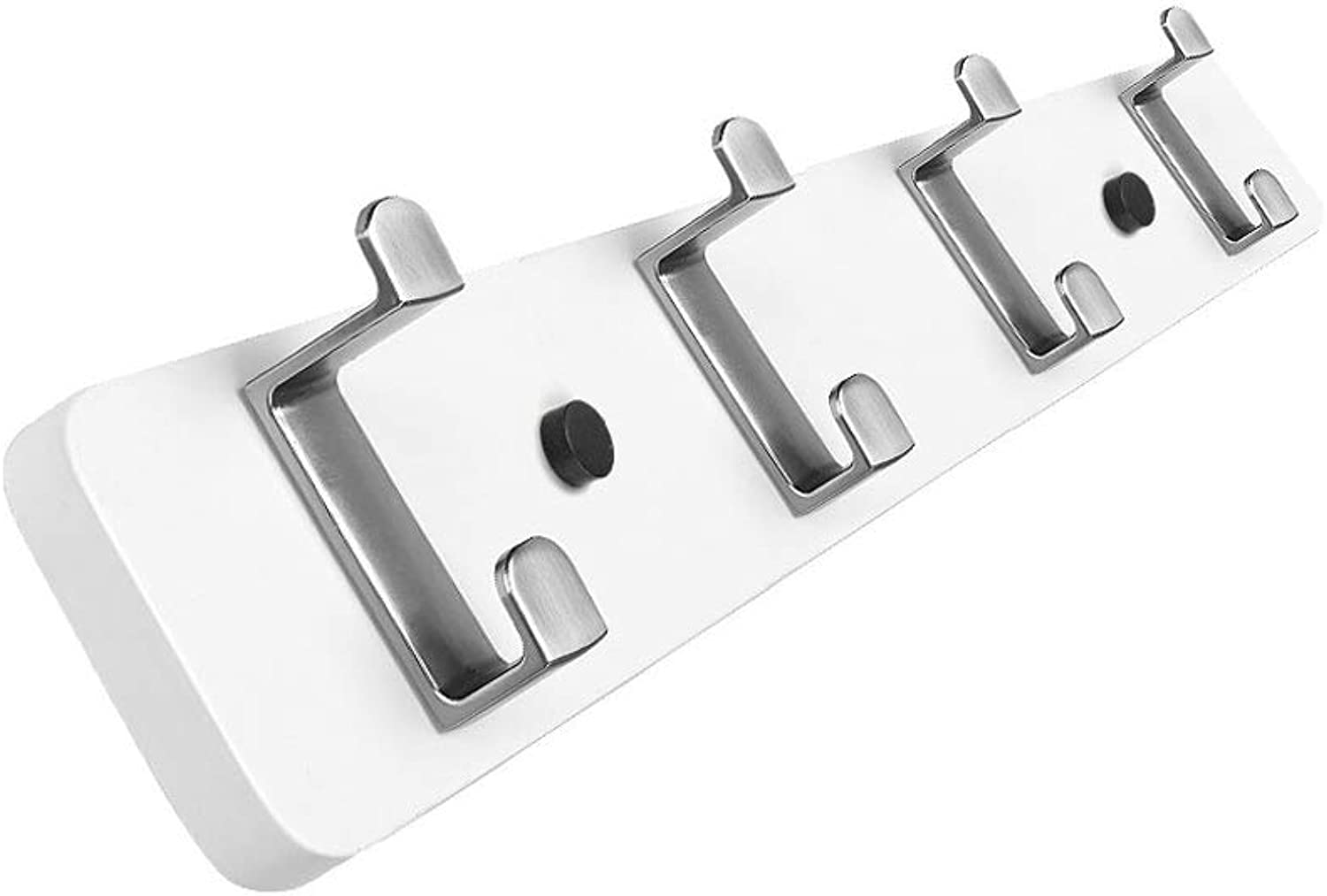 Wall-Mounted Coat Hook, Simple European Solid Wood Wall Coat Rack Wall Hanging Hook, Multi-Size (color   White, Size   Four Hooks)