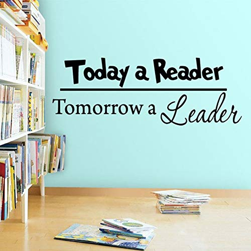 HFDHFH Cotizaciones de calcomanías de Pared para lectores de Hoy y mañana es el líder Pegatinas de Pared de Vinilo Dormitorio de los niños Biblioteca librería educación decoración de la Pared