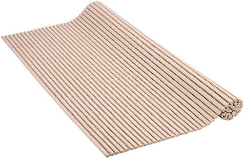 Venilia Weichschaummatte VenisoftUni Rutschfester Bodenbelag Duschmatte Anti-Rutschmatte, PVC-Polyester, Taupe, 65 x 200 cm, 54163