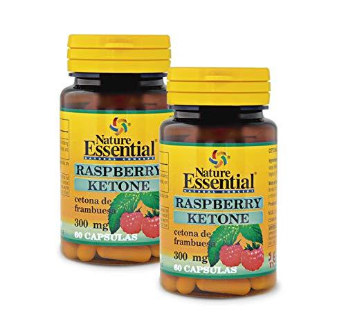 Ketonas de frambuesa 300 mg. 60 cápsulas. (Pack 2 unid.)