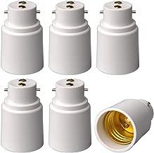 6-Pack E-simpo® B22 to E27 Adapter, Bayonet Base to E27 Lamp Holder Converter, CE Rohs Z1045