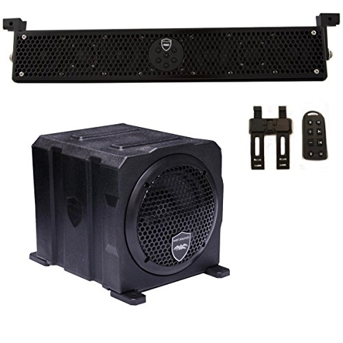 """Wet Sounds Package - Black Stealth 6 Ultra HD Sound Bar w/Remote and AS-6 6"""" 250 Watt Powered Stealth Subwoofer"""