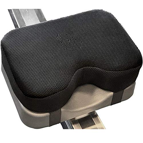 MOVKZACV Fitnessrudern, Komfortables Sitzkissen Indoor Rowing Rudergerät, passend für Concept 2 mit dickem Memory-Schaum, Sitzpolster ist rutschfest schweissfest langlebig faltbar