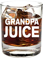 "Gifts for Grandpa - ""Grandpa Juice"" - 11oz Funny Whiskey/Cocktail Glass- Gift idea From Son, Daughter, New, For Birthday, Grandson, Granddaughter THICK heavy base for a balanced grip QUALITY product made from the highest standard glass material in th..."