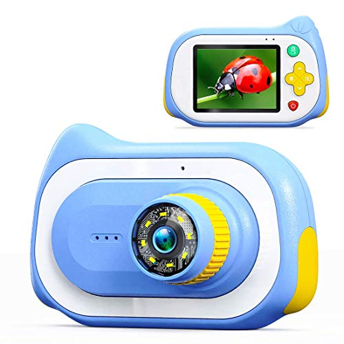 Kids Camera,15MP 1080P HD Digital Video Camera 200X Magnification Camera with 2.0 Inch IPS HD Screen,32GB SD Card Included, Girls Boys Mini Toy Camera Birthday Gifts for Kids Age 3-14