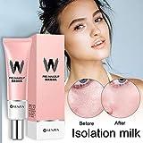 gaeruite W-Airfit Pore Primer, 2PCS Crema para la Cubierta del Corrector Maquillaje Face Foundation Facial Makeup Primer Base Base Pink Isolation Cream para AirFit Pore Primer Hole Primer Cream
