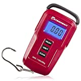 STRIKEBAIT Digital Fish Scale - Weigh Your Catch Quickly, Easily & Accurately - Measures Weight in Pounds & Kilograms - Strong Hanging Scales With Measuring Tape For Recreational & Competitive Fishing