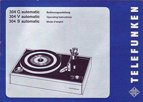 Telefunken Plattenspieler 304 G automatic