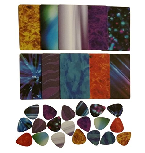 Guitar Pick Strip Pack - Pick Punch Refill Kit - Plastic Card Assortment for Guitar Pick Punch, Includes 10 Different Colors/Styles - Nextronics
