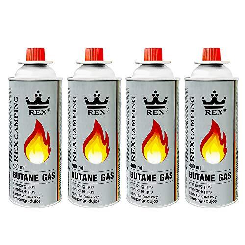 Mianova Gaskartuschen 227g Butan Gas | Bunsenbrenner Campingkocher Kocher Gaskocher Camping Gasheizung Grill Gasbrenner Lötlampe Set 4 Gasflaschen