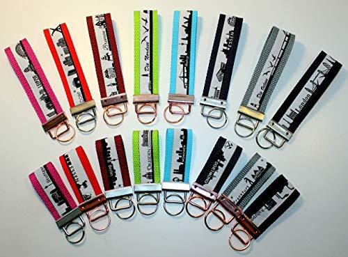 Schlüsselband Schlüsselanhänger verschiedene Städte und Farben zur Auswahl
