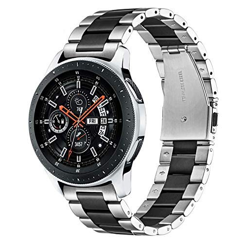 TRUMiRR Bracelets de Montre Galaxy 46mm / S3, Sangle à Fixation Rapide 22 mm en Acier Inoxydable Massif pour Montre de Galaxie Samsung Galaxy, Gear S3 Classic Frontier, Samsung Galaxy Watch3 45mm