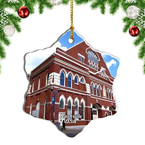 Weekino USA America Ryman Auditorium Nashville Christmas Ornament Travel Souvenir Tree Hanging Pendant