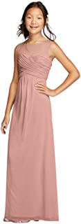 Mesh Dress with Illusion Tank Ruched Bodice Style JB9010