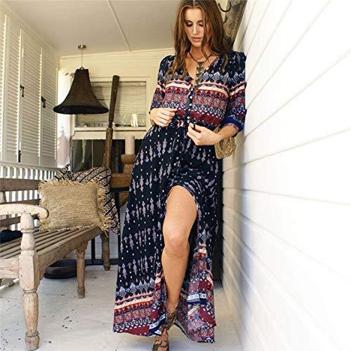 Banbie8409 Modetrend böhmen Dress Frauen mädchen Casual Dress weibliche Damen wild Dress (schwarz - xl-2370#)