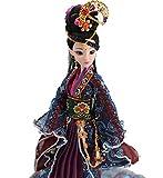 Poupée Orientale, poupée Chinoise 30cm, poupée décorative pour Tables Basses, décorations Mantle, décorations de Bureau et décorations d'étagères, Cadeau de Noël