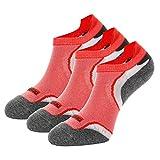 Weekend Peninsula 3 Paar Sportsocken für Herren Damen Laufsocken Sneaker Funktionssocken Running Socken Sport Damen Kurz Atmungsaktiv Quarter Baumwolle (EU 39-42, Rot - 3 Paare)