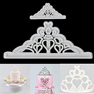 Katoot@ Sugarcraft Cake Cutter Mold 2Pcs/set Crown Silicone Tiara Fondant Icing Cutting Die Cake Cookies Tool For Decoration Baking