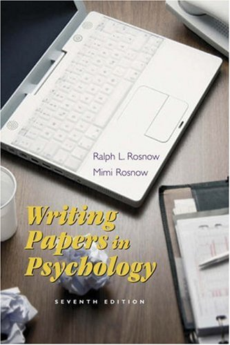 Download Writing Papers In Psychology With Infotrac: A Student Guide To Research Reports, Literature Reviews, Proposals, Posters, And Handouts 0534533310