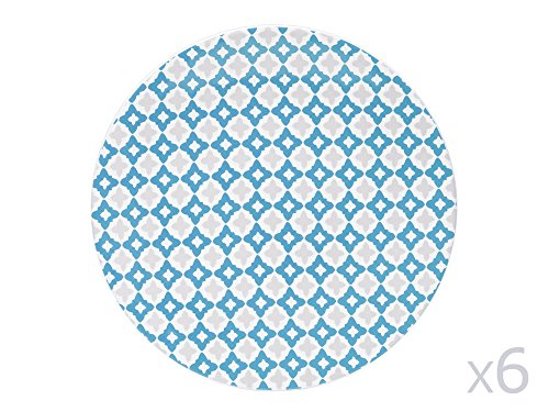TABLE PASSION - ASSIETTE PLATE 27 CM SINTRA BLEU (LOT DE 6)