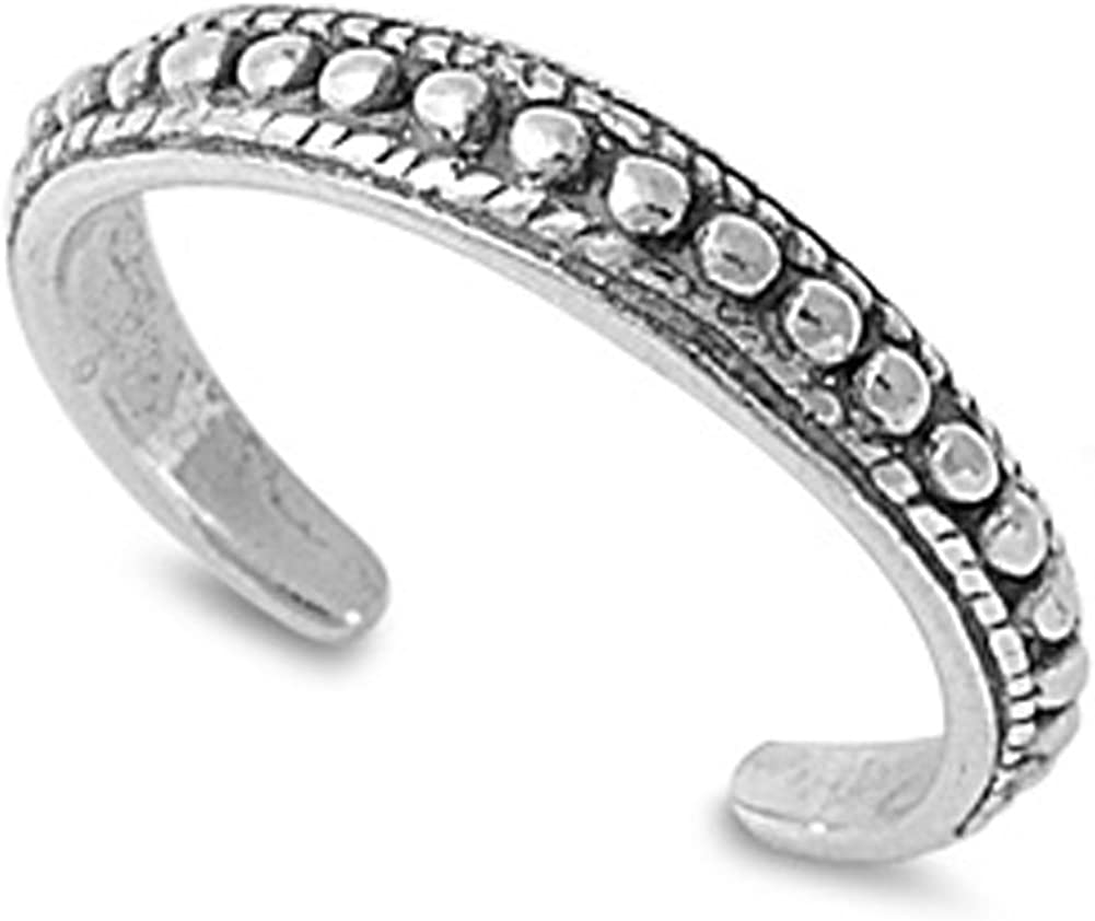 Bali Ball Indianapolis Mall Bead .925 Easy-to-use Silver Ring Toe Sterling