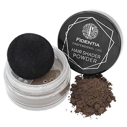 Fidentia Hair Shader Powder | Concealer Haarpulver zur Haarverdichtung und Ansatzkaschierung | sofort mehr Haardichte | dunkelbraun