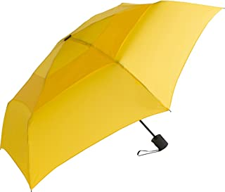 WindPro Flatwear Vented Auto Open/Close Yellow Compact Umbrella: Sunbeam