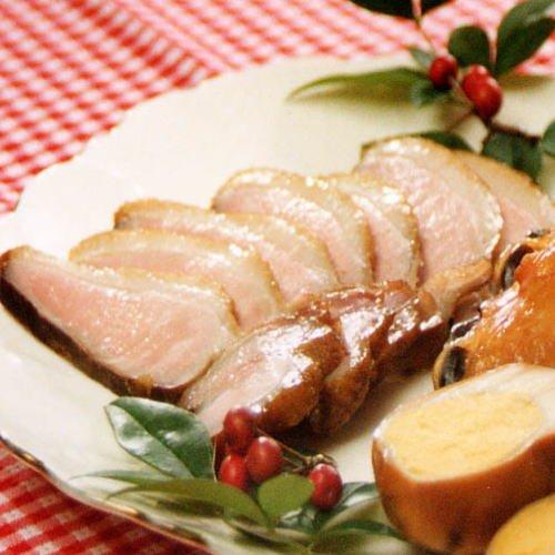 合鴨 ロース 燻製 ( フランス産 マグレカナール 胸肉 スモーク )