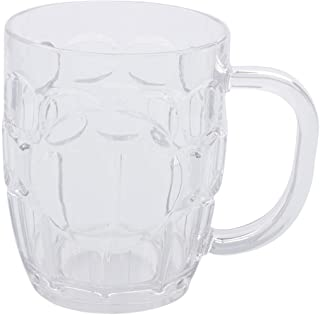 EPVSR 10 pack Plastic Beer Mugs,8oz Clear Plastic Cup,Dishwasher-Safe
