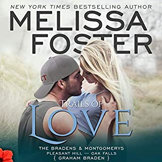 Trails of Love     The Bradens and Montgomerys: Pleasant Hill - Oak Falls, Book 3              Written by:                                                                                                                                 Melissa Foster                               Narrated by:                                                                                                                                 Virginia Rose,                                                                                        Aaron Shedlock                      Length: 7 hrs and 58 mins     Not rated yet     Overall 0.0