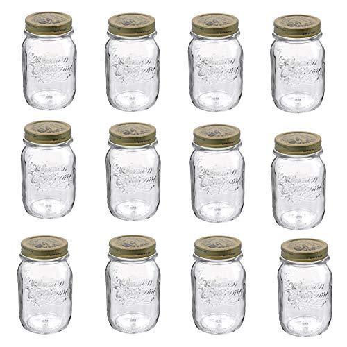 Bormioli Barattoli quattro stagioni 12pezzi | Capacità: 500ML | Diametro 8,5cm | Altezza totale 14cm | perfetto per antipasti & Co